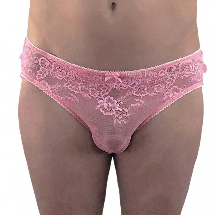 Pink Bikini Panties with Ruffles Lacey