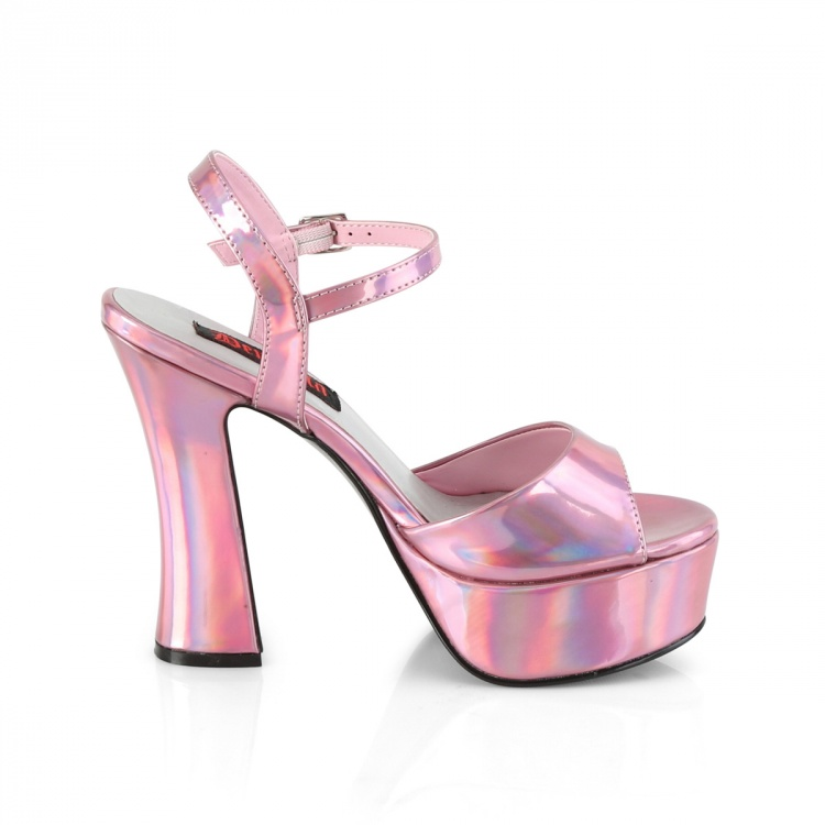 Pink Hologram Sandal Dolly-09