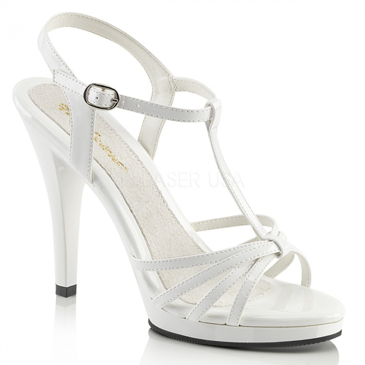 White Patent Sandal Flair-420