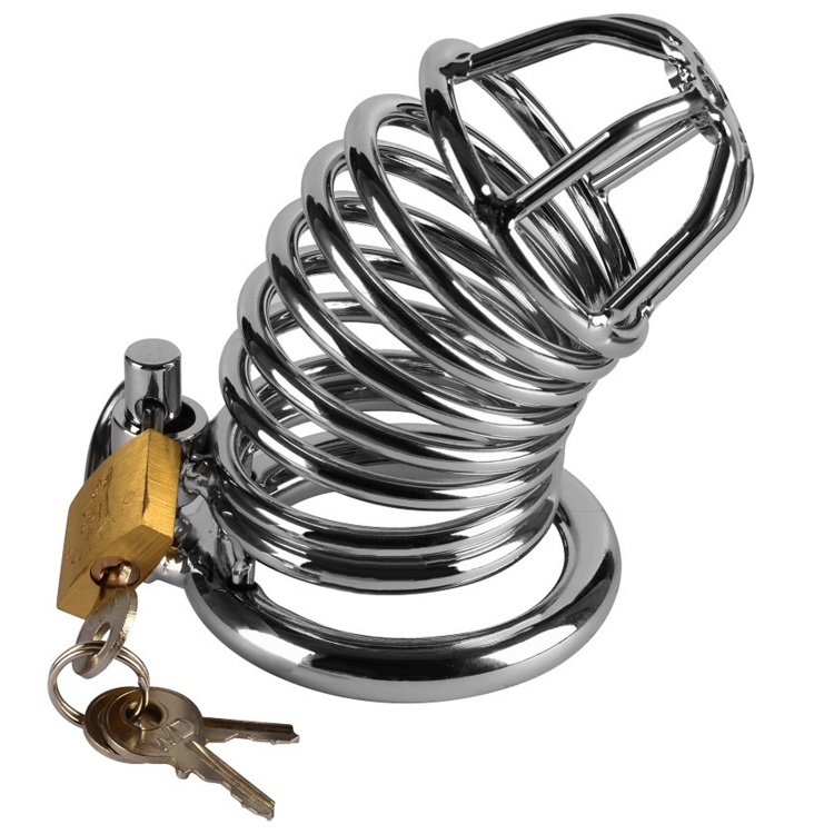 Metal Chastity Jailed Cage