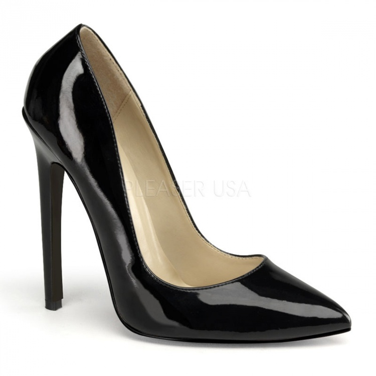 Black Patent Pumps Sexy-20