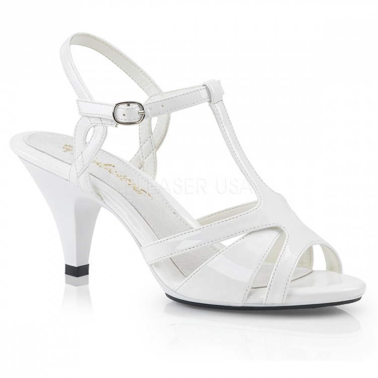 White Patent Sandals Belle-322