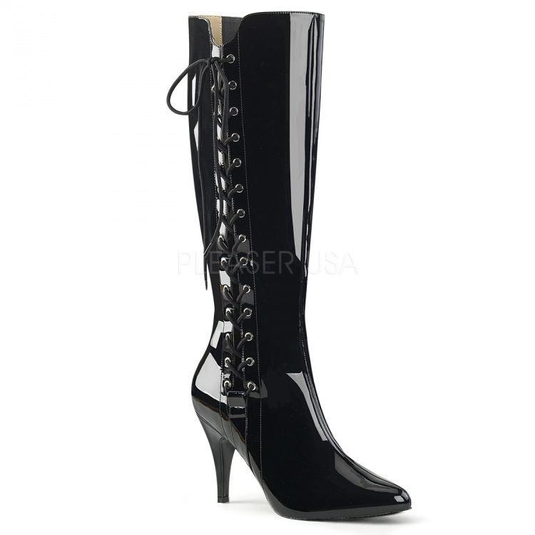 Black Patent Knee High Boots Dream-2026