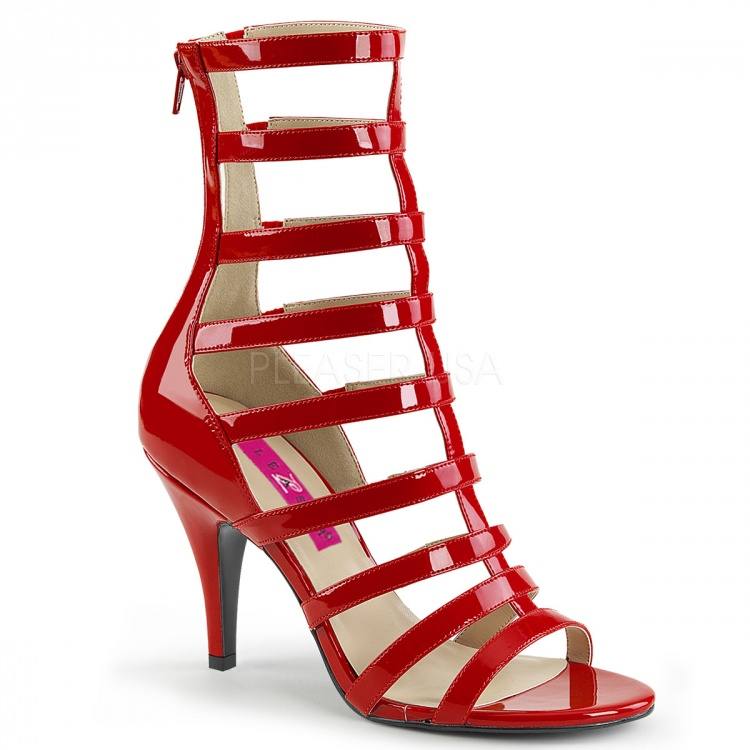 Red Patent Strappy Ankle Boot Dream-438